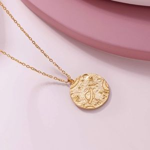 18k Gold Plated Coin Necklace